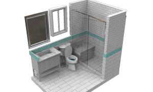 Bathrom design with VisulARQ