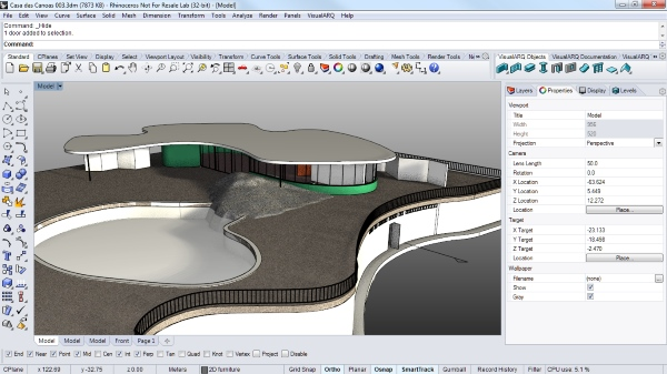Nuevo seminario virtual de VisualARQ 1.8: herramientas de arquitectura BIM para Rhinoceros