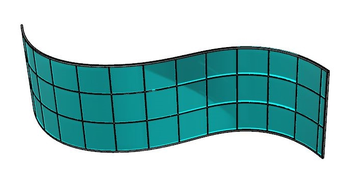 Curtain wall curved panels