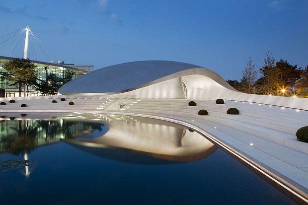 Un diseño Rhino analizado por VisualARQ: Pabellón Porsche de Henn Architekten