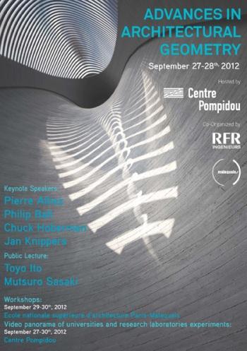 Progrès en géométrie architecturale 2012 – Paris