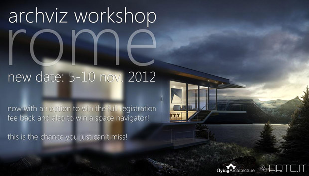 Architectural visualization workshop in Rome