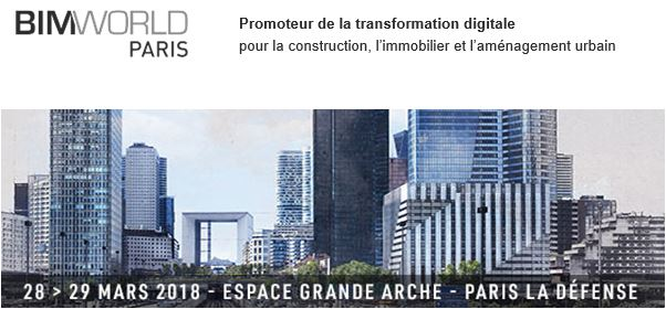 Venez voir VisualARQ au salon BIM World Paris 2018