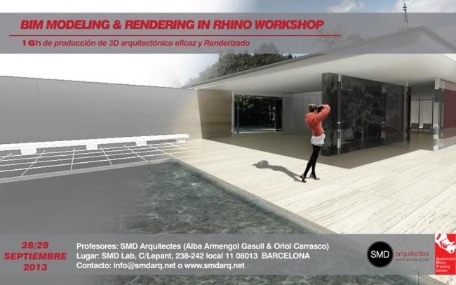Taller de modelado BIM y renderizado en Rhino