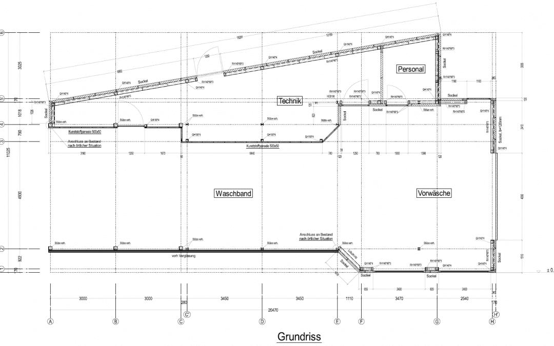 Progetto per un impianto di autolavaggio realizzato con VisualARQ