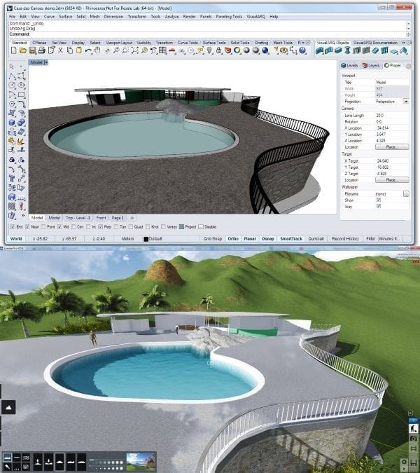Visit the Galaxy of architectural software: VisualARQ and Lumion
