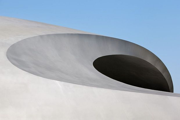 Fluidity of lines in the Rhino architectural design of the Porsche Pavilion
