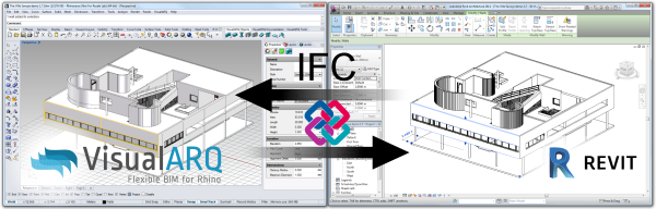 Exchanging models between Rhino and Revit through IFC