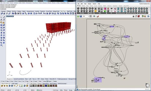 Para diseñar la estructura del edificio se utilizaron los  VisualARQ Grasshopper Components