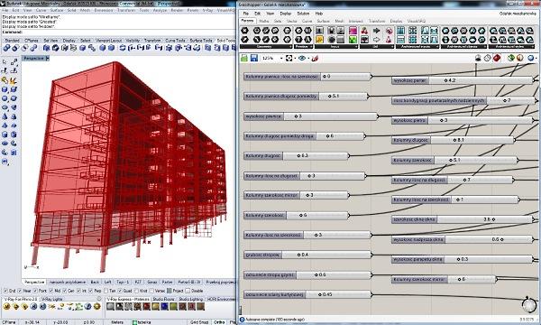 Los VisualARQ Grasshopper Components se emplearon en el diseño de la estructura del edificio