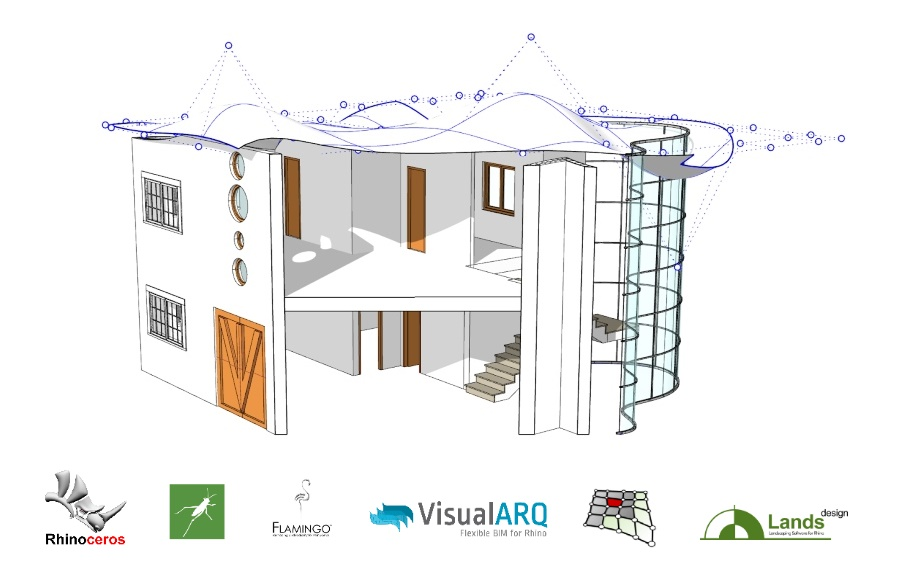 Learn VisualARQ in the Rhino for Architecture Online Course, February 2019
