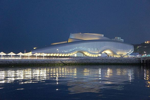 Seaside location of the Yeosu Pavilion facilities