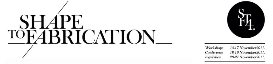 VisualARQ sur le salon Shape to Fabrication 2011 de Londres