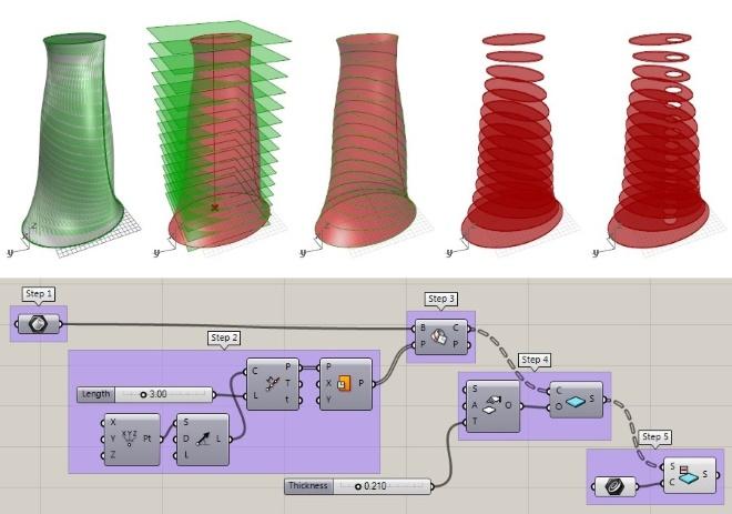 Nouveaux exercices sur VisualARQ Grasshopper Components : Créer des dalles et des escaliers