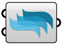 A fake Grasshopper component with the VisualARQ logo representing the VisualARQ Grasshopper components.