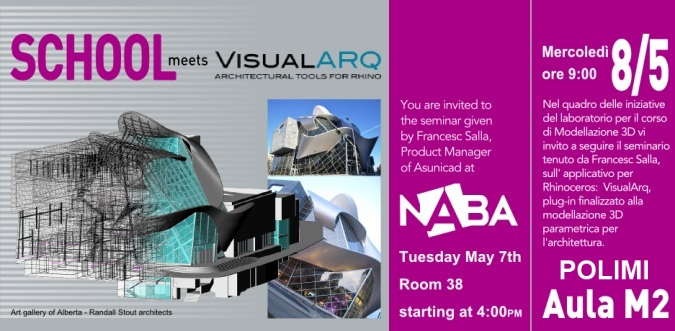 VisualARQ seminars in Milano