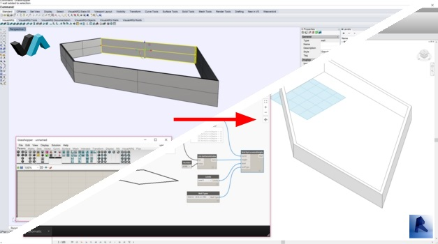 VisualARQ to Revit via Fluxio