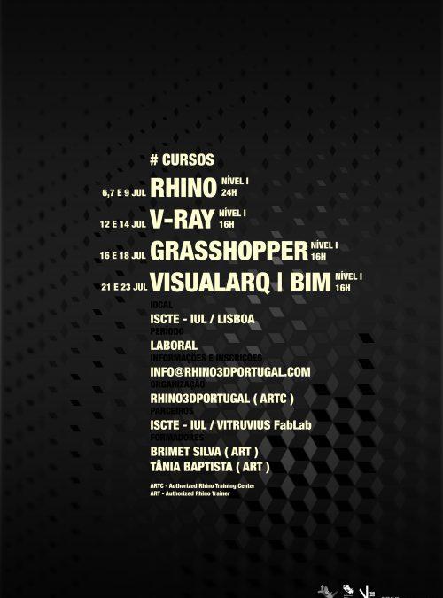 Rhino, V-Ray, Grasshopper and VisualARQ + BIM training courses