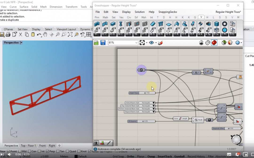 Parametric truss with a beam Grasshopper style