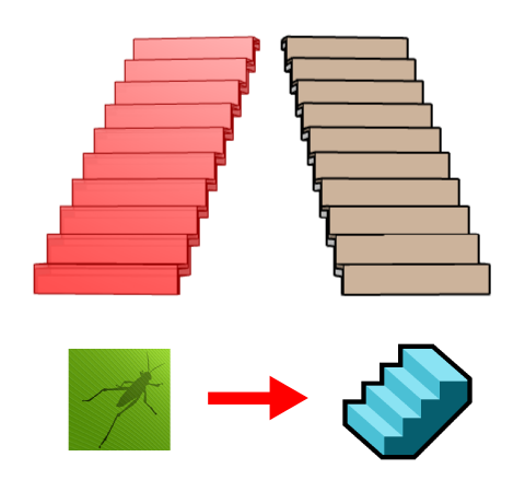 Comparison between the Grasshopper stair on the left and the VisualARQ stair on the right.
