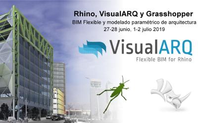 Curso de modelado paramétrico de arquitectura con Rhino, VisualARQ y Grasshopper, en la ETSAV, UPC