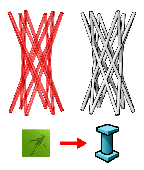 Comparison between the Grasshopper column on the left and the VisualARQ column on the right.
