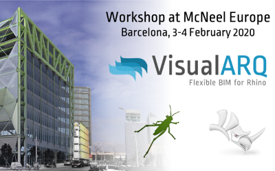 Workshop: Rhino for Architecture using VisualARQ at McNeel Europe (Barcelona).