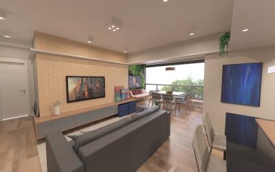 Living room of Habitarte project by Carolina Castilho, created with Rhino and VisualARQ