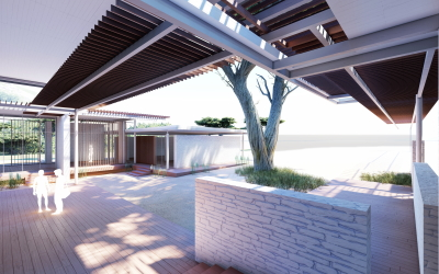 Proposal for the Turkish National Competition of Mediterranean Caretta Rehabilitation Station in Iztuzu Beach, created with Rhino and VisualARQ