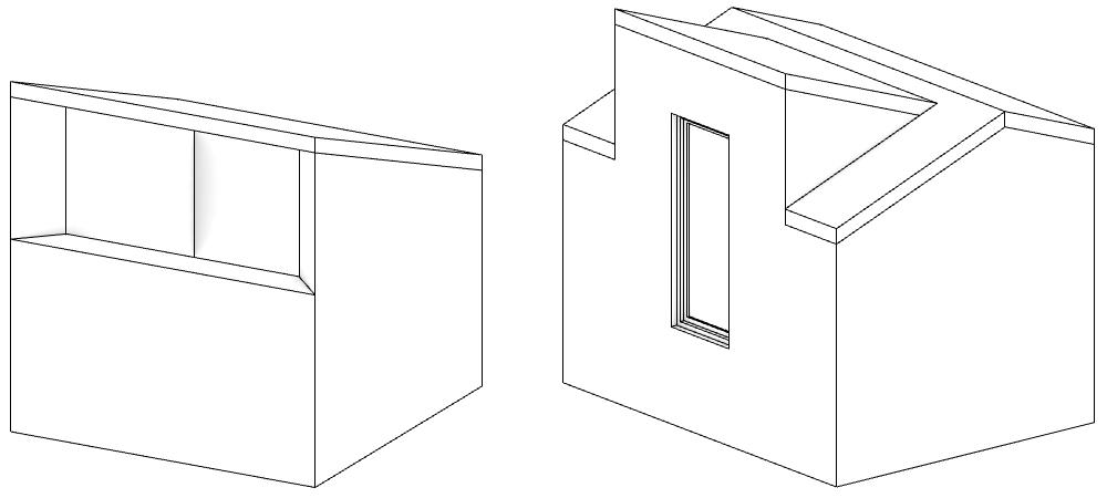 Zwei Modelle ohne Probleme mit sich schneidenden Wänden.