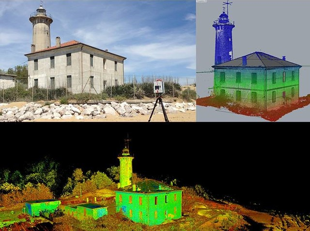 3D scanner and BIM model of the faro of Bibione with VisualARQ by Andrea Gavagnin