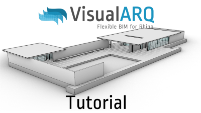 VisualARQ tutorial in Spanish: model and documentation of the Barcelona Pavillion