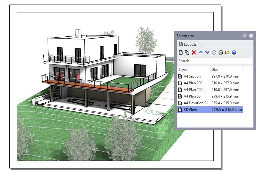 Gestore layout di VisualARQ 2.9