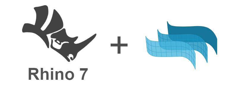 Le logo de Rhino 7 à gauche et logo de VisualARQ à droite