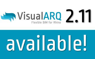 VisualARQ 2.11 est disponible