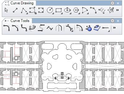 Kurvenwerkzeuge und 2D-Zeichnungen