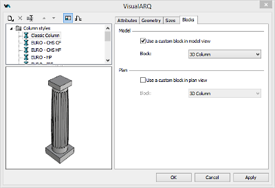 Column Style From 3D Block
