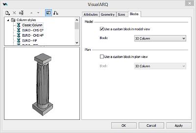 Estilo de pilar desde bloque 3D