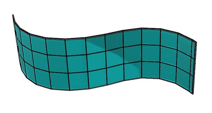 Mur-rideau avec panneaux plats