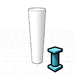 Column style created from a Grasshopper definition